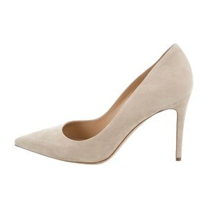 NWT M. Gemi Suede Pumps in Nude